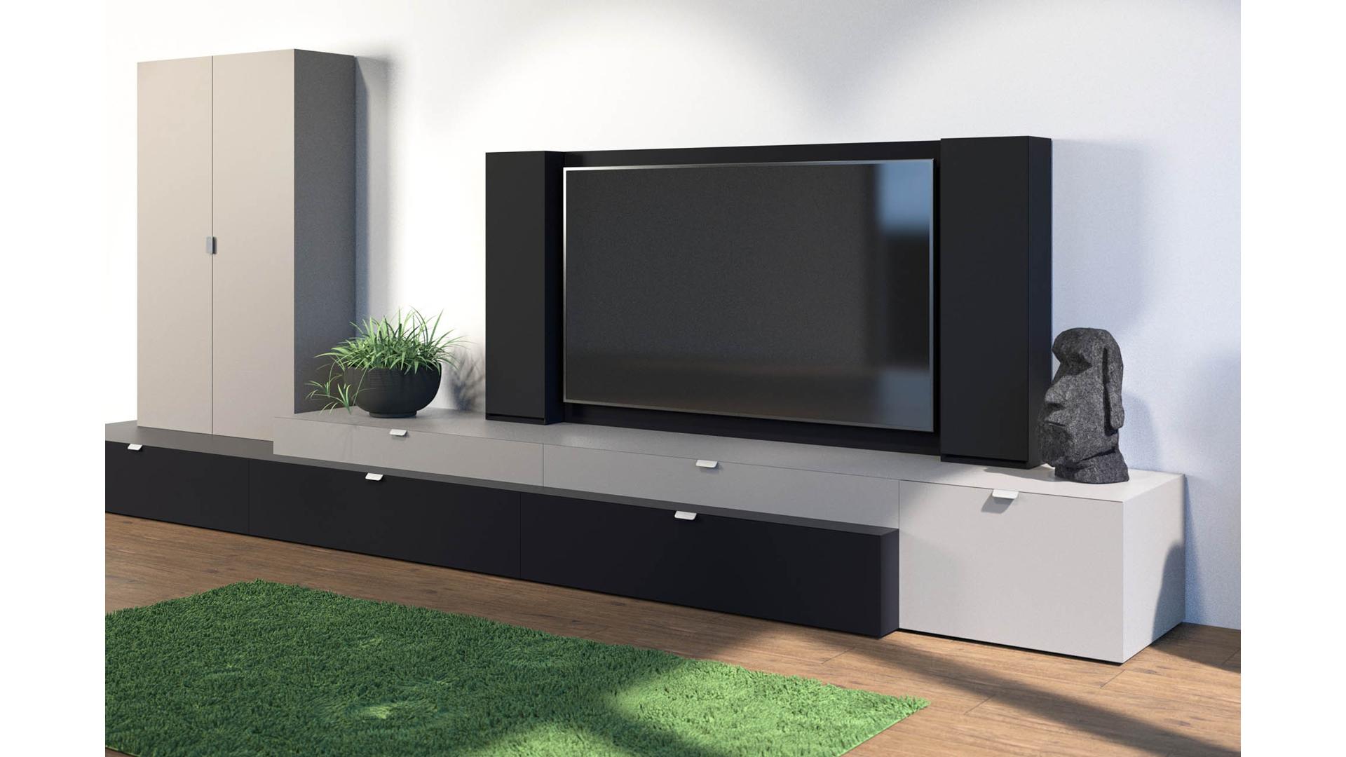 Meuble Tv Hifi Intégré meuble tv sur mesure swiss hd hifi | meubles bise